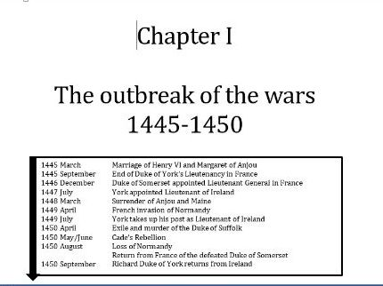 Wars of the Roses: Chapter 1 Revision