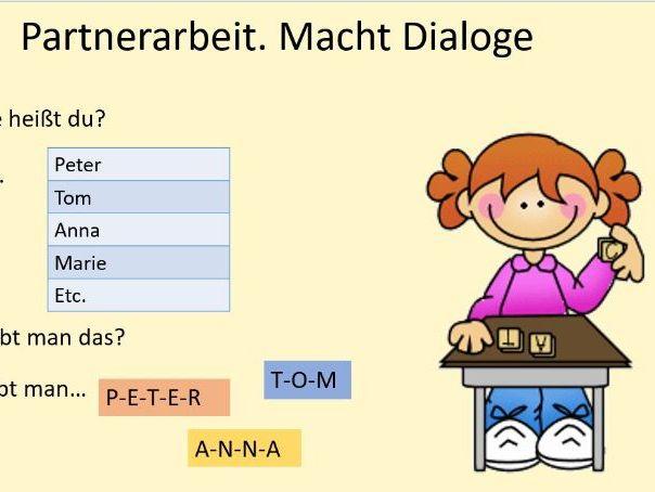 Zahlen und Alphabet Buchstaben Deutsch German Basics