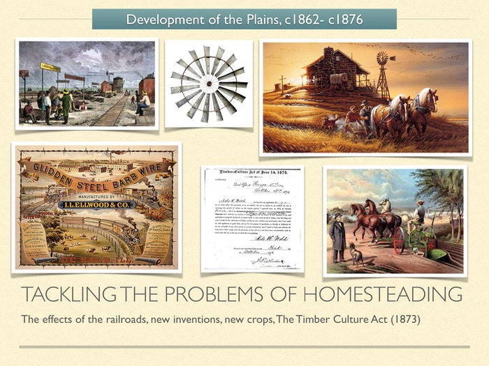 GCSE History American West 1800s. Tackling the problems of Homesteading.