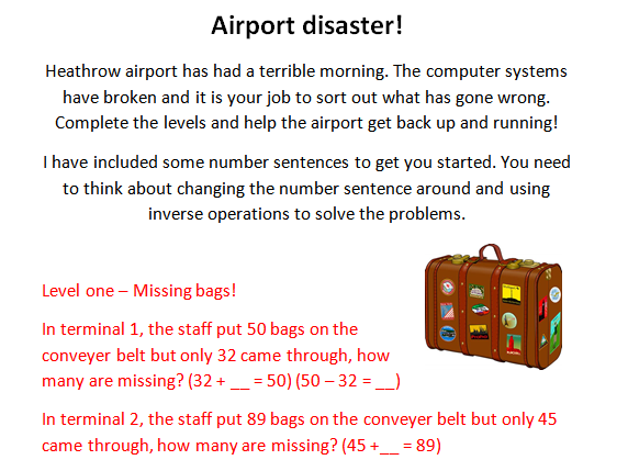 Inverse Operation Airport Disaster!