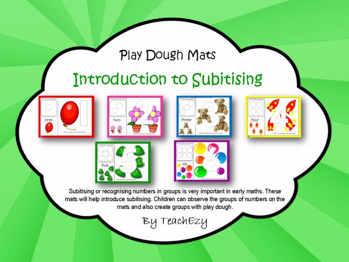 Subitising Play Dough Mats