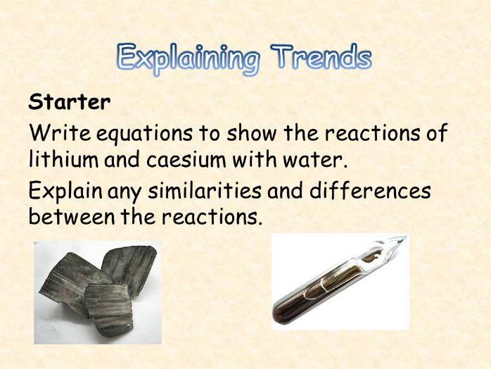 AQA Chemistry Topic 2: Explaining Trends