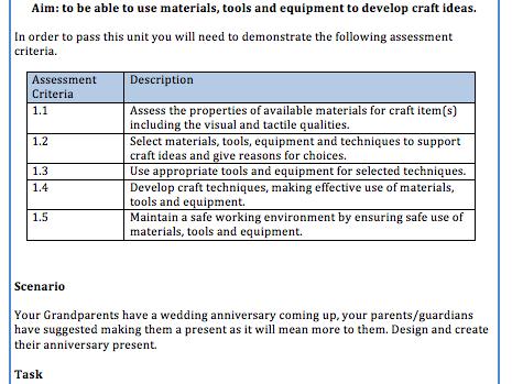 NCFE Level 2 Creative Craft: Construction