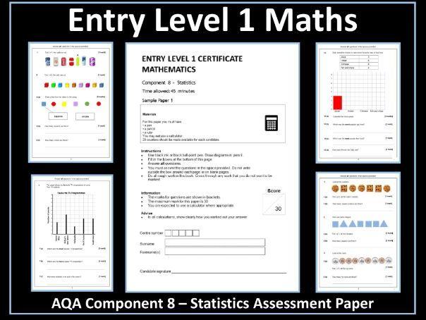 AQA Entry Level Maths Assessment - Statistics