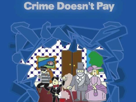 Sample pages for the play script Crime Doesn't Pay