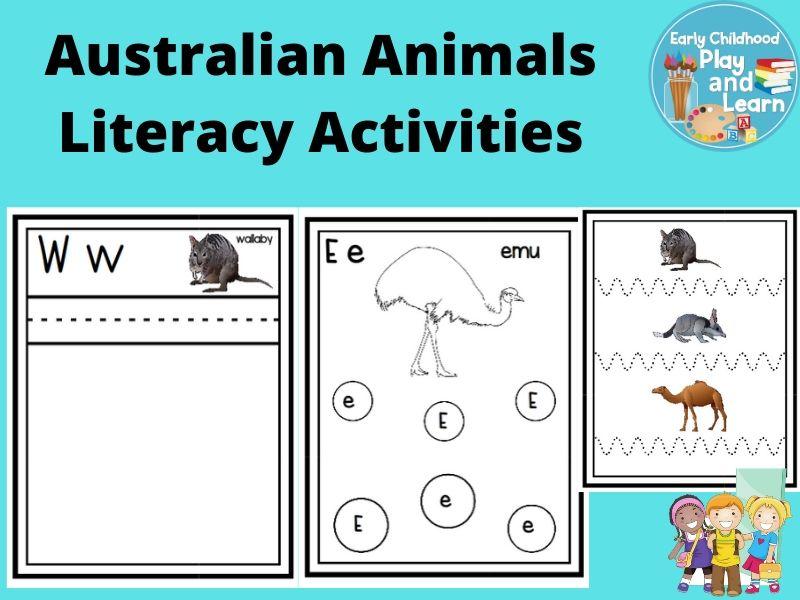 Australian Animals Literacy Activities