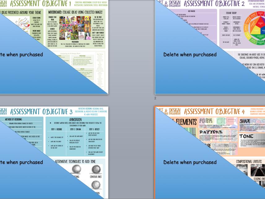 GCSE Art Help Sheets