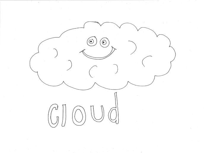 Cloud: WEATHER Colouring Page