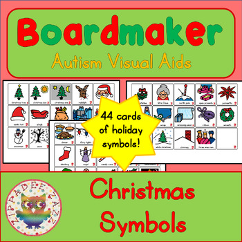 Christmas Symbols - Boardmaker Visual Aids for Autism
