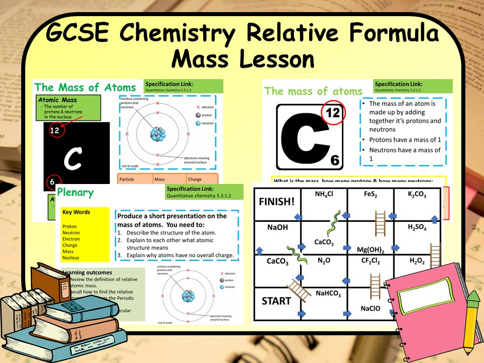 New GCSE Chemistry (Science) Relative Formula Mass & Atomic Structure Lesson