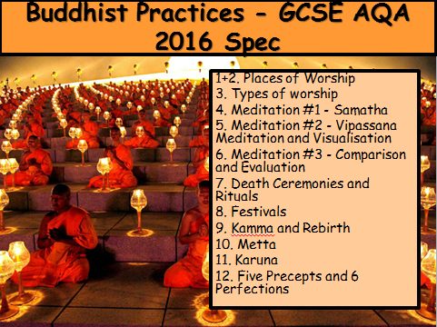 Buddhist Practices - GCSE AQA 2016 Spec