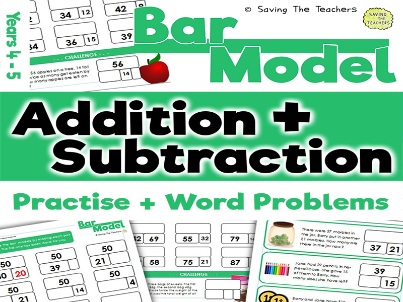 Bar Model Addition and Subtraction: Years 4- 5