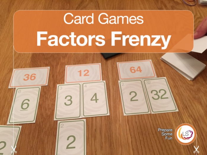 Factors Frenzy | Card Game for learning Factors & Multiples
