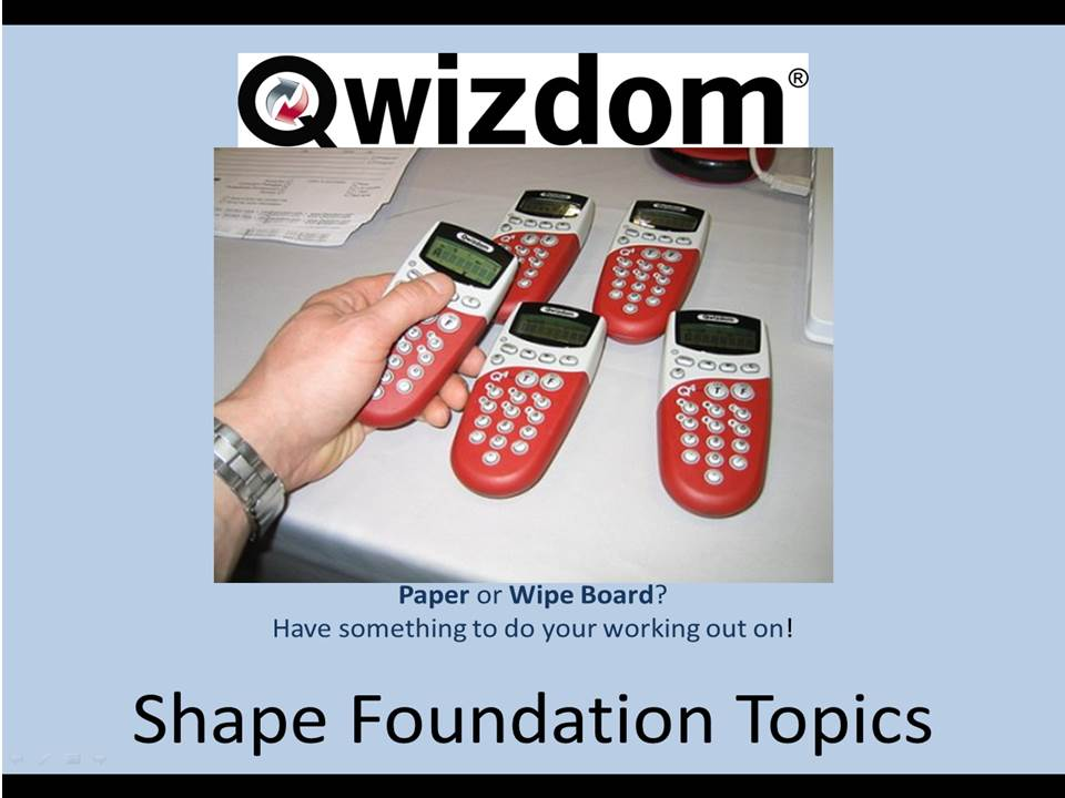 NEW 9-1 Maths GCSE Foundation Qwizdom - SHAPE Topics (All graded) Revision