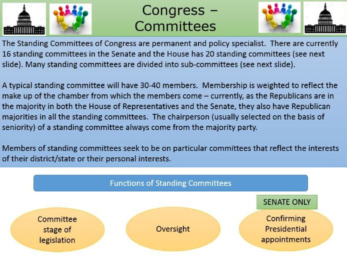 Congressional Committees. A Level Government and Politics.
