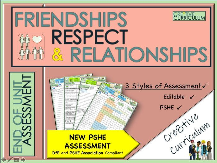 Friendships Respect + Relationships - PSHE