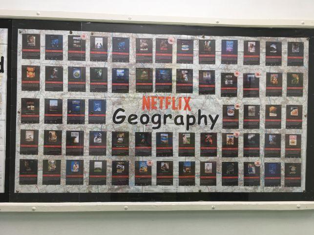 Netflix 'Geography' display