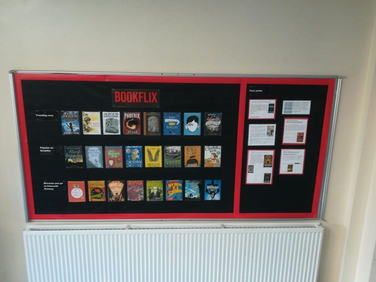 Netflix Bookflix Reading Display