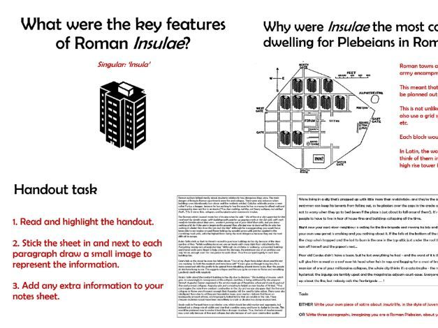 What were the key features of Roman Insulae / Insula?