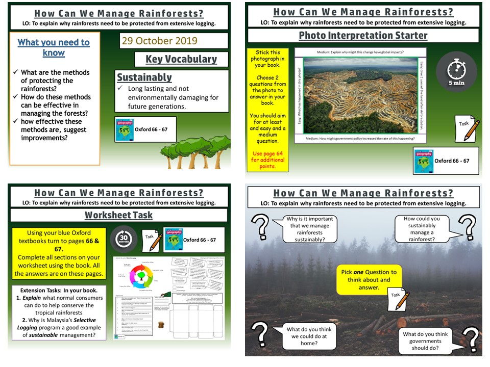 Sustainable Management of Tropical Rainforests