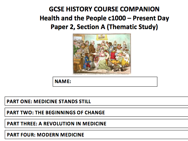AQA (9-1) GCSE History - Health and the People Part One and Two