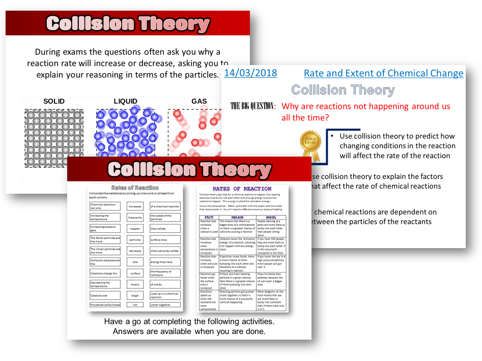 AQA Trilogy / Chemistry - Collision Theory