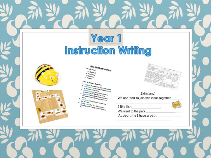 Year 1 - Instruction Writing
