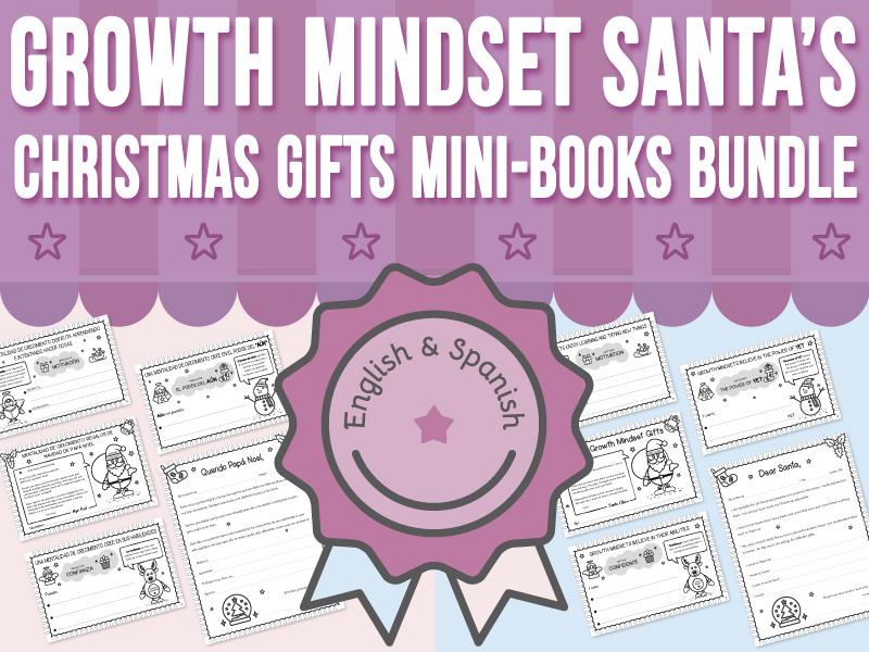 Growth Mindset - Santa's Christmas Gifts Mini-Books BUNDLE