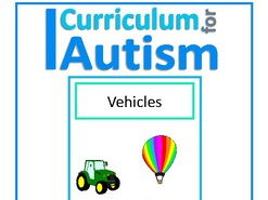 Finish The Sentences Interactive Book- Vehicles Transport, Autism Special Education, SEND