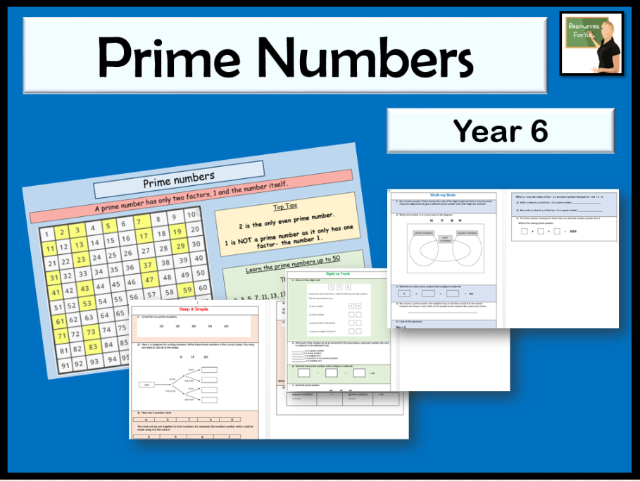 Maths Prime numbers Year 6