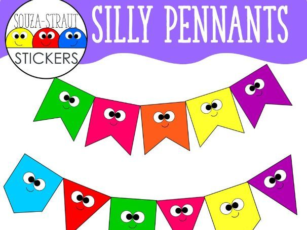 Silly Pennant Clip Arts
