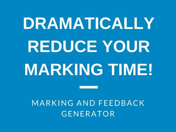 Whole Class Marking & Feedback Generator