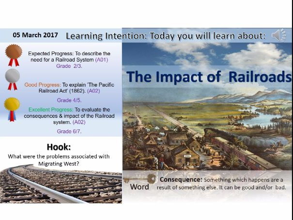The American West: Impact of the Railroad. (GCSE Edxecel 1-9)