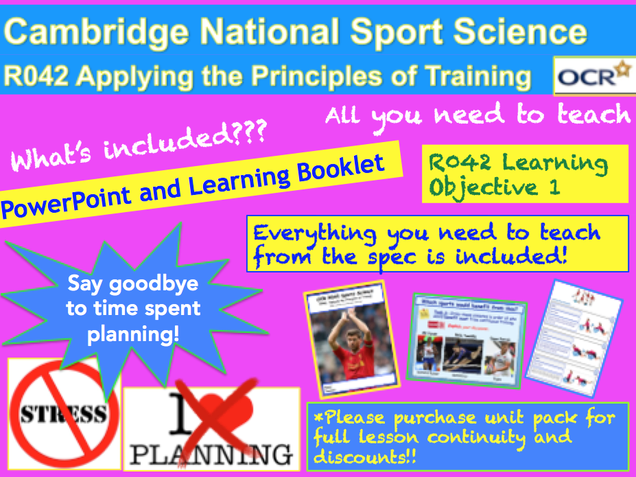 Cambridge National Sports Science R042: Learning Objective 1