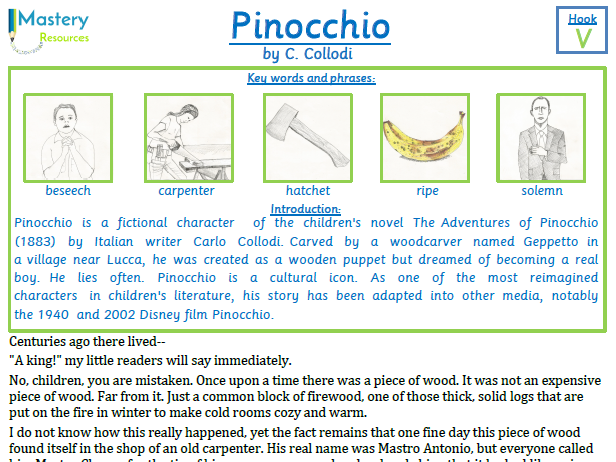 Pinocchio by C. Collodi by Comprehension KS2