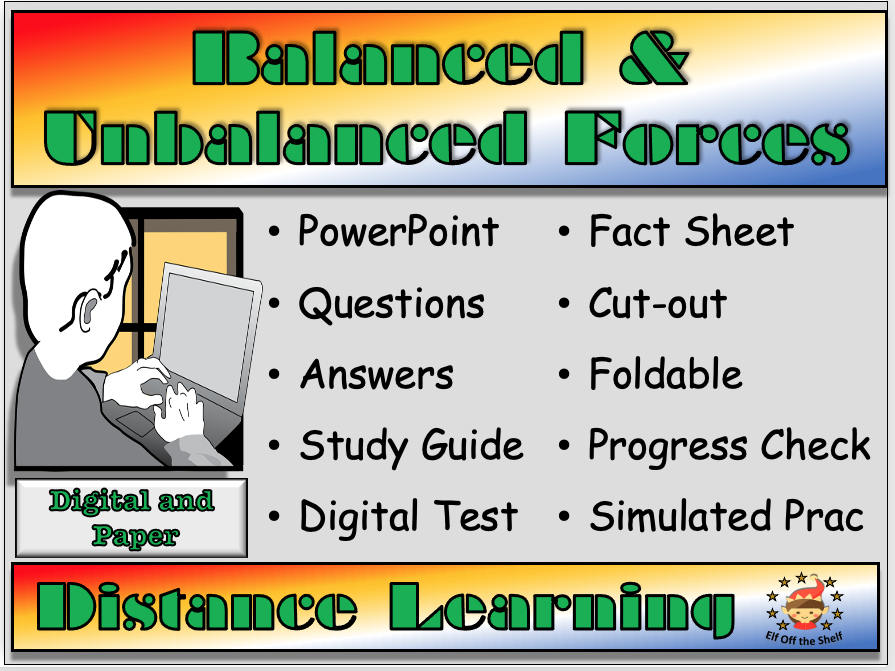 Forces - Balanced and Unbalanced Forces - Distance Learning and Homeschool for KS3