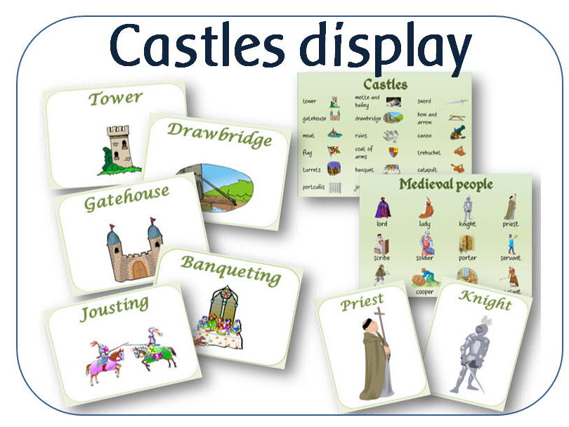 Castles topic wordmats and display resources