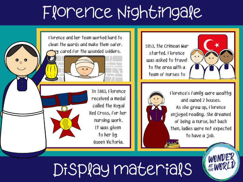 Florence Nightingale display materials KS1