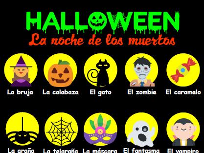 Halloween poster - Spanish