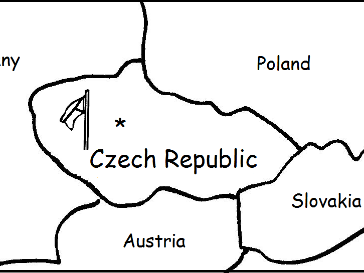 CZECH REPUBLIC - Printable worksheets include a map to color
