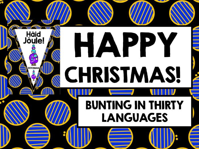 CHRISTMAS: HAPPY CHRISTMAS BUNTING MULTILINGUAL