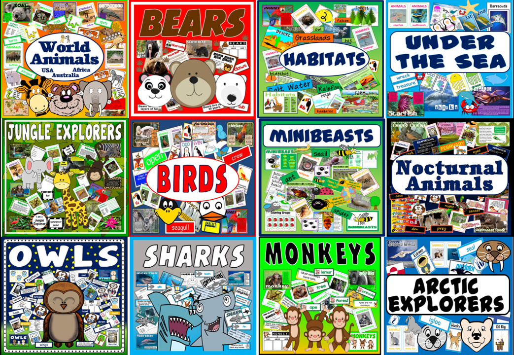 *BUNDLE* 12 SETS OF ANIMAL RESOURCES