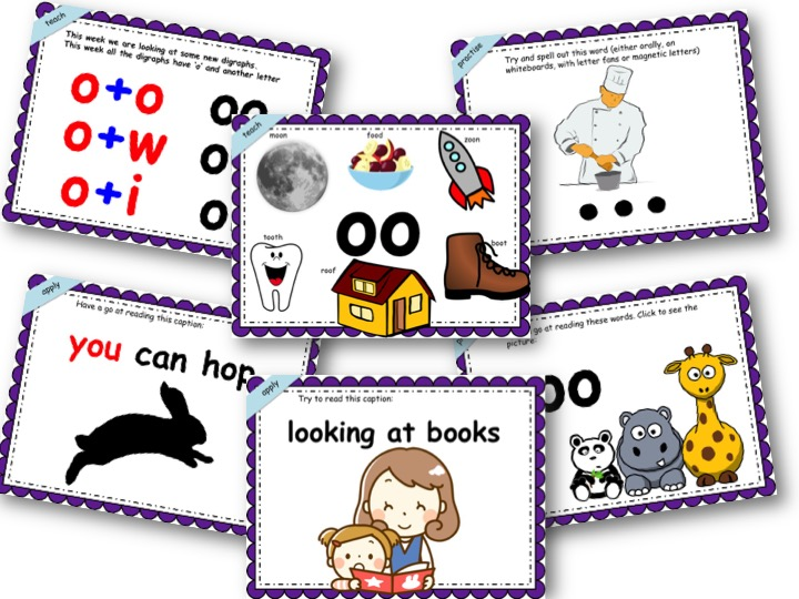 Phonics Powerpoint, Phase 3, Week 6 (oo/oo,ow,oi)