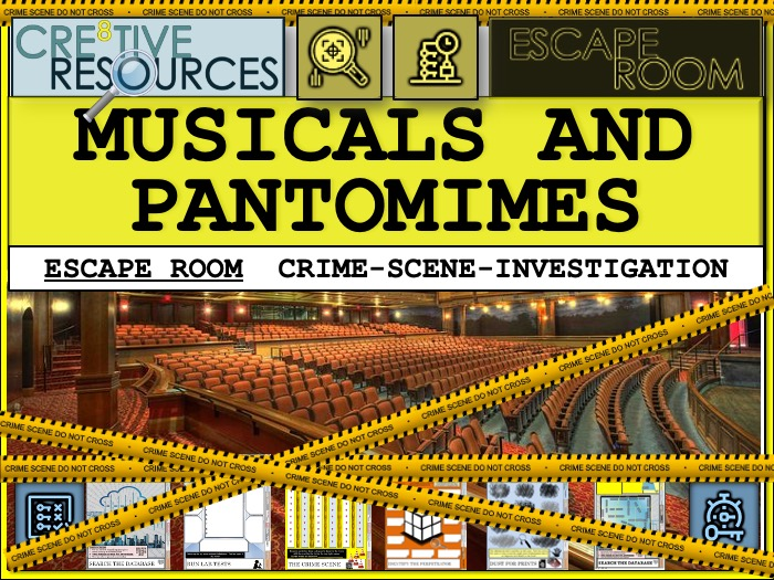 Musicals and Pantomimes Escape Room