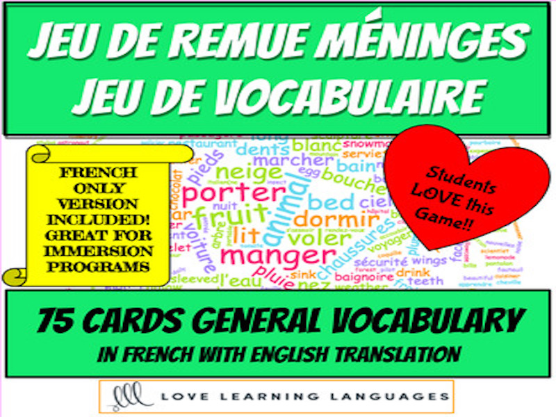 French Brainstorming game - Remue-Méninges Classic