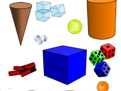 3D shapes and sorting grid