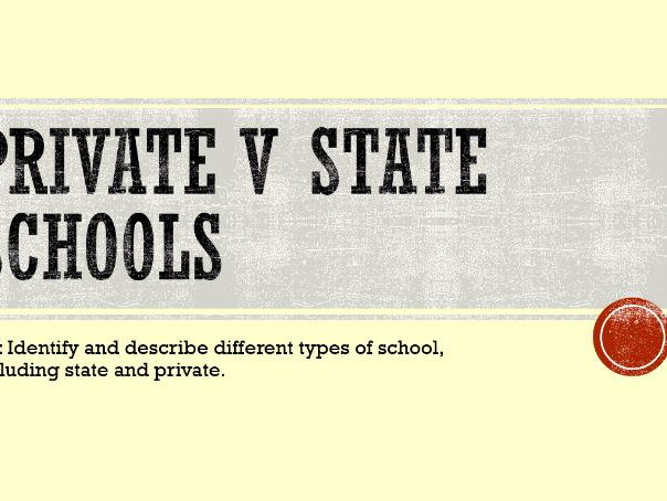 Private School v State for Sociology GCSE Education