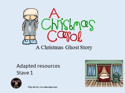 A Christmas Carol presentation. (Adapted)