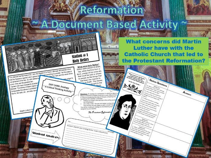 Protestant Reformation: What were Luther's arguments (In his own words) DBQ worksheet