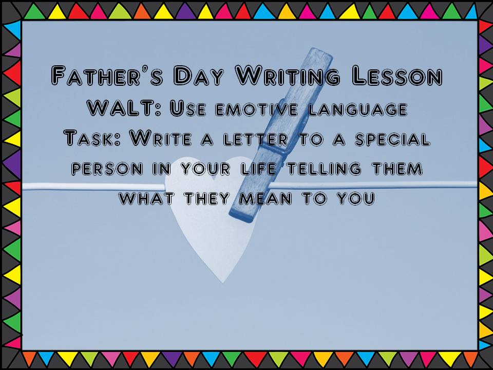 Father's Day Writing Lesson